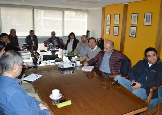 Directivos del Programa Expande Minería visitaron la FI UdeC para conocer sobre proyectos e investigaciones en el área