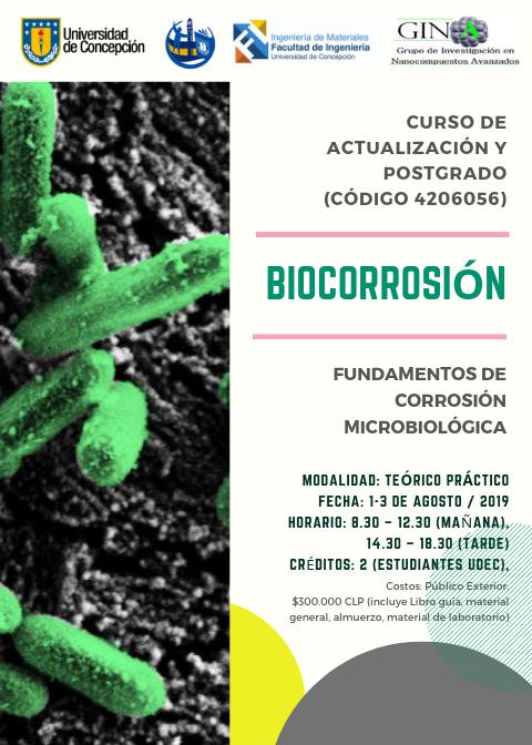 Curso Postgrado: Biocorrosión, fundamentos de corrosión microbiológica