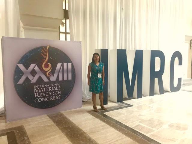 Docente Katherina Fernández participó en Congreso Internacional de Investigación en Materiales