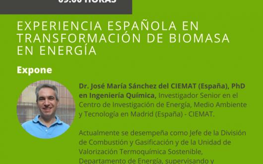 """Charla """"Experiencia española en transformación de biomasa en energía"""""""