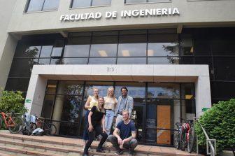 En la elaboración de hormigón con residuos se enfocaron durante tres meses estudiantes de la Universidad de Windesheim