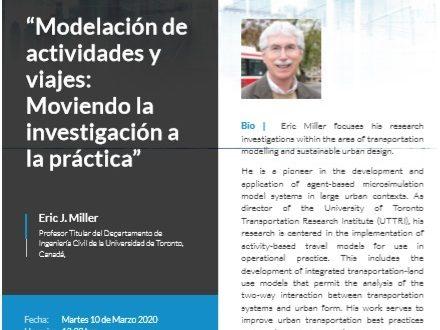 """""""Modelación de actividades y viajes: Moviendo la investigación a la práctica"""""""