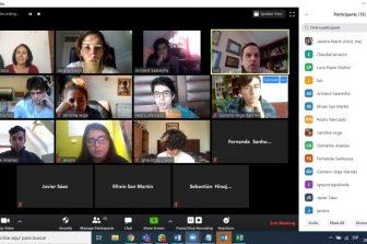 Primera reunión online entre decano, vicedecana y estudiantes de 1er año
