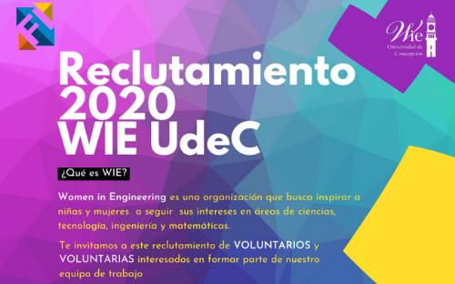 Reclutamiento 2020 WIE UdeC