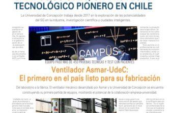 Campus 5G UdeC y Ventilador Asmar-UdeC en edición especial de El Mercurio