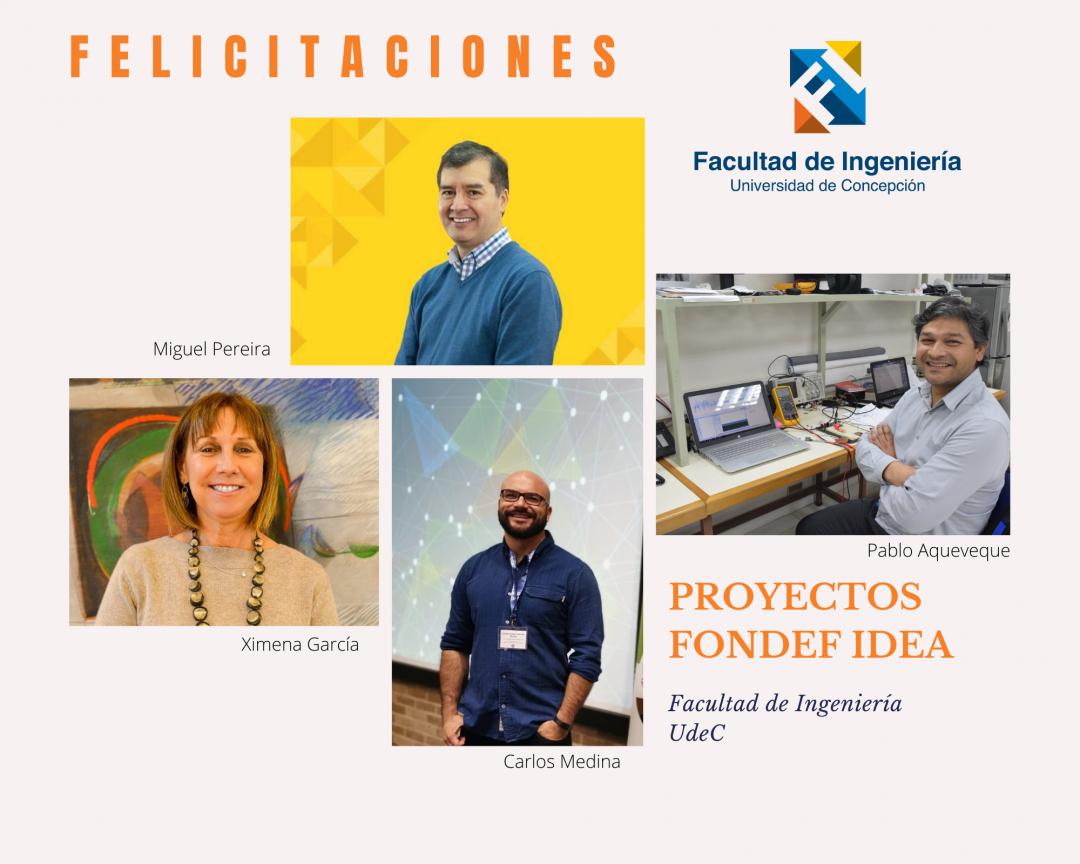 Ingeniería destaca  en proyectos adjudicados Fondef IDeA