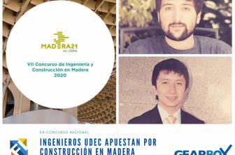 Ingenieros participan en concurso Madera 21 con el apoyo de Gearbox y de la Unidad I+D de la FI UdeC