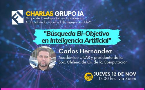 """Charla """"Búsqueda Bi-Objetivo en Inteligencia Artificial"""""""