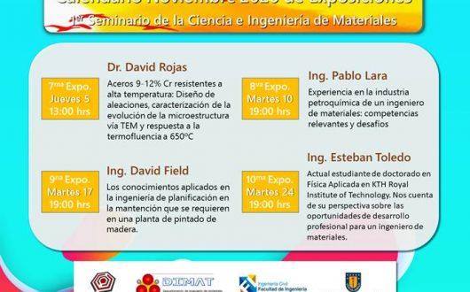 """Ciclo de charlas """"1er seminario de la Ciencia e Ingeniería de Materiales"""""""