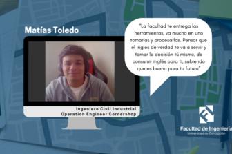 """Matías Toledo, egresado UdeC e ingeniero de operaciones en Cornershop: """"El Inglés se presenta como una puerta para las oportunidades"""""""