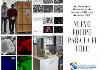 Microscopio electrónico de barrido SEM con detector EDS se suma al equipamiento de la FI UdeC