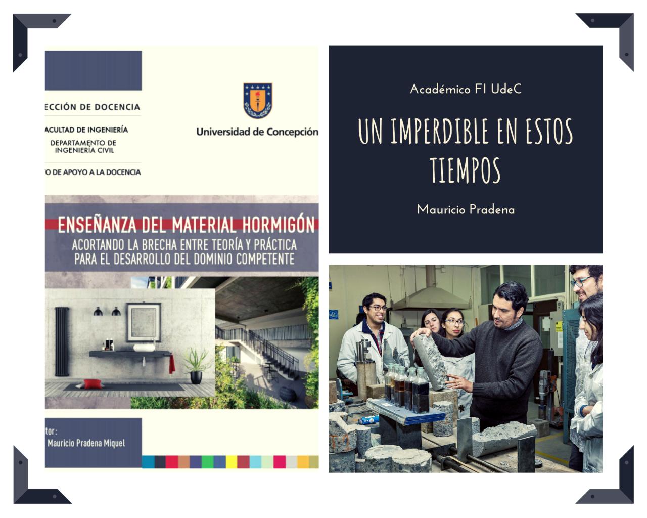 Libro centrado en las innovaciones para la enseñanza del hormigón es publicado por académico Mauricio Pradena