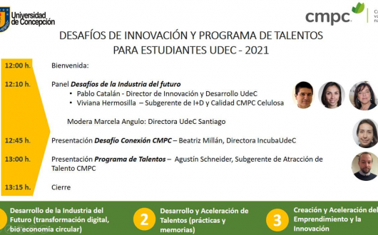 Desafíos de Innovación y Programa de Talentos para estudiantes UdeC