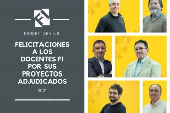 Seis académicos FI obtienen financiamiento Fondef IDeA I+D