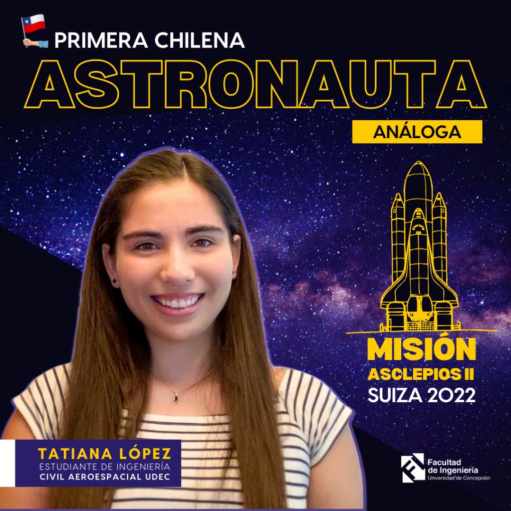 Tatiana López es la primera chilena en ser elegida como astronauta análoga para misión Asclepios II