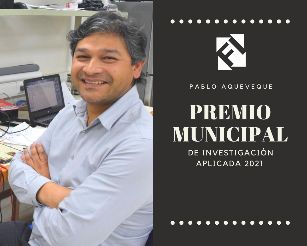 Académico Pablo Aqueveque obtiene reconocimiento municipal por el impacto de sus investigaciones